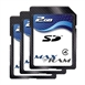 3x 2GB SD Flash Memory Card (MaxRam)